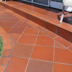 Clay tile patio