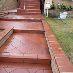 Clay tile steps